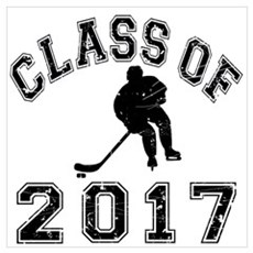 Class Of 2017 Hockey Wall Art Poster