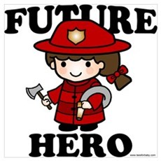 Future Hero: Firefighter Wall Art Poster