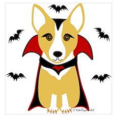Count Corgi - Vampire Wall Art Poster