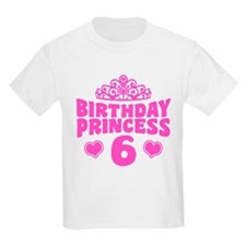 6th Birthday Princess T-Shirt