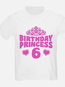 6th Birthday Princess T-Shirt