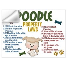 Poodle Property Laws 4 Wall Art Wall Decal