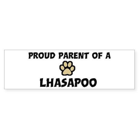 Proud Parent: Lhasapoo Bumper Sticker