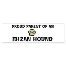 Proud Parent: Ibizan Hound Bumper Bumper Sticker