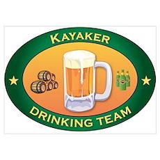 Kayaker Team Wall Art Poster