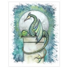 Green Dragon Wall Art Poster