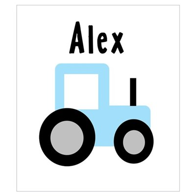 Alex - Baby Blue Tractor Wall Art Poster