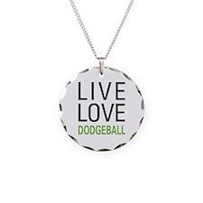 Live Love Dodgeball Necklace