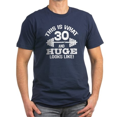 Funny 30 Year Old Men's Fitted T-Shirt (dark)