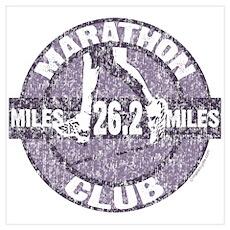 Marathon Club Wall Art Poster