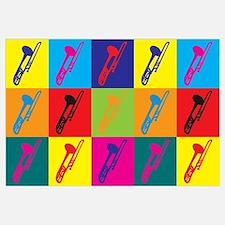 Trombone Pop Art Wall Art