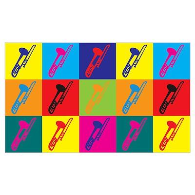 Trombone Pop Art Wall Art Poster