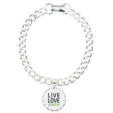 Live Love Donate Charm Bracelet, One Charm