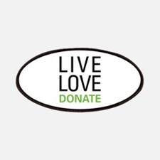 Live Love Donate Patches