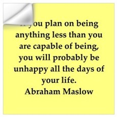 Abraham Maslow quotes Wall Art Wall Decal