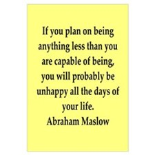 Abraham Maslow quotes Wall Art