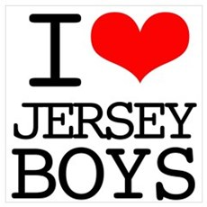 I Heart Jersey Boys Wall Art Poster
