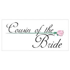 Elegant Cousin of the Bride Wall Art Poster