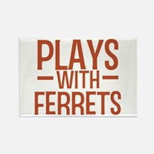 PLAYS Ferrets Rectangle Magnet