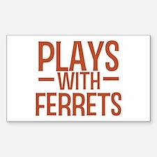 PLAYS Ferrets Decal