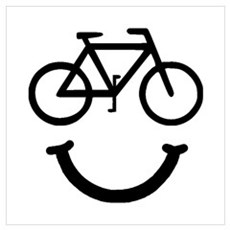 Bike Smile Wall Art Framed Print