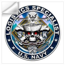 USN Logistics Specialist Skul Wall Art Wall Decal