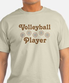 Volleyball Player Daisy Gift T-Shirt