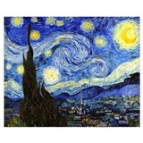 Van gogh starry night Wrapped Canvas Art