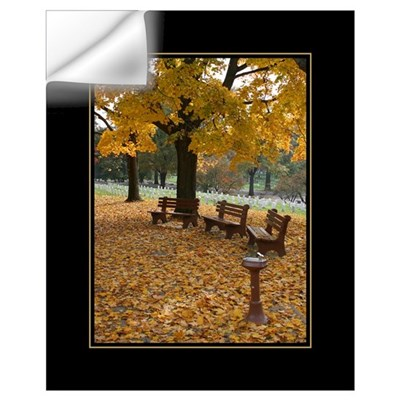 Arlington Benches 16x20 Poster Wall Decal