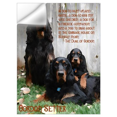 Gordon Setter Clan Wall Art Wall Decal