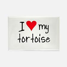 I LOVE MY Tortoise Rectangle Magnet