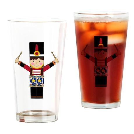 Nutcracker Soldier with Drum Drinking Glass