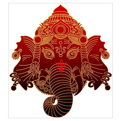 Ganesh Wall Art ganesha wall art poster