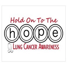 HOPE Lung Cancer 6 Wall Art Framed Print