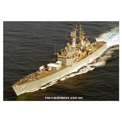 USS CALIFORNIA Wall Art Framed Print