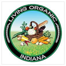 Living Organic Indiana Wall Art Poster