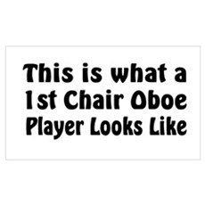 1st Chair Oboe Player Wall Art Poster