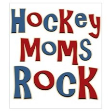 Hockey Moms Rock Palin Wall Art Poster