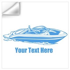Motorboat. Add Your Text. Wall Art Wall Decal
