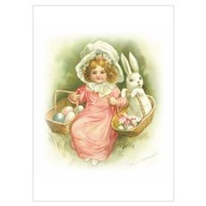 """Cute Easter Bunny"" Wall Art Poster"