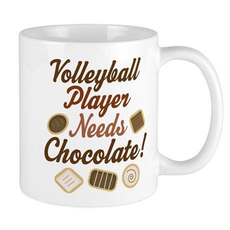 Volleyball Player Chocoholic Mug