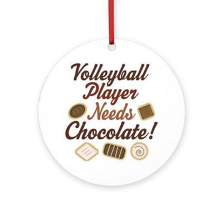 Volleyball Player Chocoholic Ornament (Round)