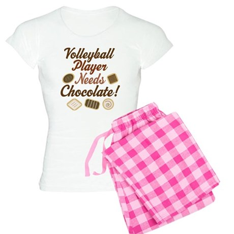 Volleyball Player Chocoholic Women's Light Pajamas