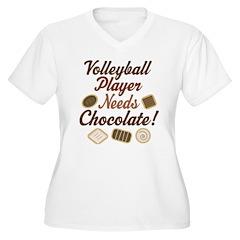 Volleyball Player Chocoholic T-Shirt