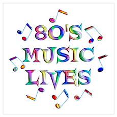 80's Music Wall Art Poster