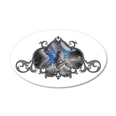 The Doodler Gothic Fairy Fant 22x14 Oval Wall Peel