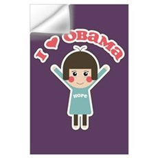 I Love Obama Hope Poster (Small) Wall Decal