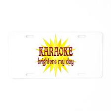 Karaoke Brightens Aluminum License Plate