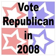 Vote Republican Wall Art Poster