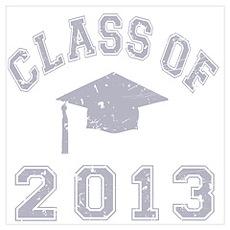 Class Of 2013 Graduation Wall Art Poster